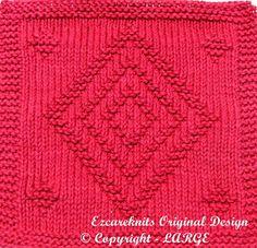 Knitting Cloth Pattern EZ SQUARES PDF by ezcareknits on Etsy