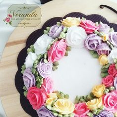 Sincerity, white based floral cake