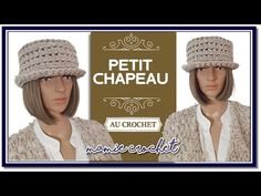 Comment faire un petit chapeau intemporel en toutes tailles au crochet tuto débutante - YouTube Creations, Crochet Hats, Etsy, Bonnets, Important, Fashion, Juju Hat, How To Make, Thanks