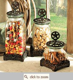 Love this set of canisters.. great for a western style home.