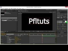 Adobe After Effects Animate Text Beginners Tutorial - YouTube