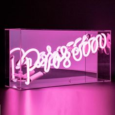 Sunshine and Snow Locomocean Pink Prosecco Acrylic Box Neon - Trouva Pink Prosecco, Neon Box, Furniture Care, Decoration Originale, Christmas Gifts For Her, Acrylic Box, Neon Lighting, Picture Wall, Photo Wall