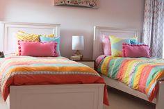 Bryn Mawr Girls Bedroom design. Philadelphia Interior Design.  http://down2earthinteriordesign.com/portfolio_page/bedrooms/