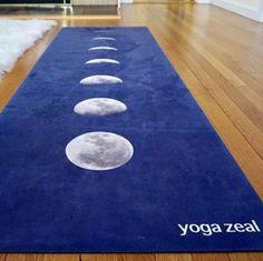 Blue Lunar yoga mat by Yoga Zeal