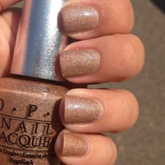 Nude Shimmer polish - OPI DS Classic - my new fave everyday color.