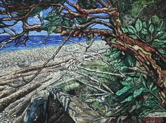 Sechelt Beach Arbutus - oil painting by Julie Johnston