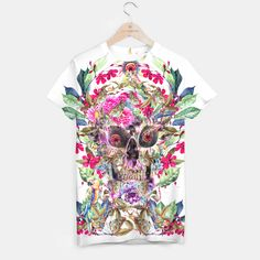 MOMENTO #skull #bones #floral #digital #watercolor #painting #abstract #animals #birds #tshirts #saweaters