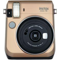 FUJIFILM 16513920 Instax(R) Mini 70 Instant Camera (Stardust Gold)