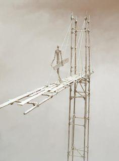 Antoine Jossé 1970 ~ Surrealist sculptor and painter Modern Outdoor Kitchen, Modern Metropolis, Three Stone Engagement Rings, Human Art, Paper Clay, Land Art, Wire Art, Landscape Art, Cool Art