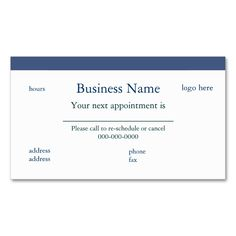 2211 best appointment business card templates images on pinterest appointment calendar profile card flashek Image collections