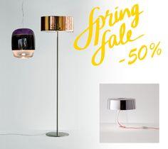 Φωτιστικά όπως το αιωρούμενο Gong S3, το επιδαπέδιο CPL του σχεδιαστή Christian Ploderer και το επιτραπέζιο Glam του Luc Ramael είναι μερικά από τα κρυστάλλινα φωτιστικά του οίκου Prandina που μπορείτε να βρείτε στη RICHE στις Ανοιξιάτικες Εκπτώσεις μας με -50% έως σήμερα Δευτέρα 15 Μαΐου. Ελάτε στο κατάστημά μας να βρούμε μαζί φωτιστικά ή έπιπλα σε ειδικές τιμές και στις νέες σας παραγγελίες και ανανεώστε μοναδικά τον χώρο σας.