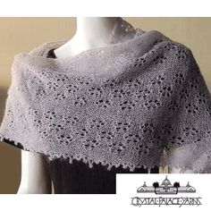 """Sweet Alyssum"" Knitted Ladies' Shawl FREE Pattern by Crystal Palace Yarns"