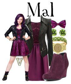 Mal (Disney's Descendants) by fabfandoms on Polyvore featuring polyvore fashion style ERIN Erin Fetherston Børn Fornash Disney clothing
