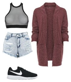 """""""Untitled #132"""" by iambiachagas ❤ liked on Polyvore featuring Boohoo, Dsquared2, WearAll, NIKE and plus size clothing"""