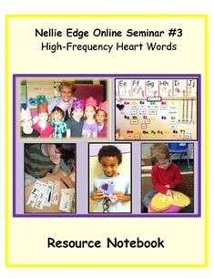 "Resource book makes it easy to implement High-Frequency ""Heart  Word"" program. Includes lists, parent letters, crowns, procedures, 4  large printable posters, floor size posters, take home sets of  sight words & 62 word cards. #highfrequency #words #NellieEdge #kindergarten #heartwords #pd #newkindergartenteacher #poster #list #parents #ideas #activities #phonics #abc #writingworkshop #sightwords Parent Letters, Letter To Parents, Learning Targets, Learning To Write, Kindergarten Writing, Kindergarten Activities, Word Program, Sight Words Printables, Abc Phonics"
