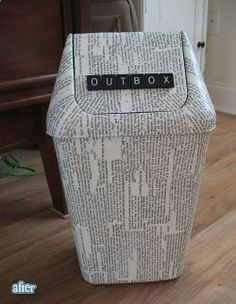 I think I should do this for my paper recycling can so people quit confusing it with the trash!