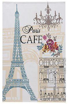 Ulster Weavers Retro Paris Cafe Design 100% Cotton Tea Towel