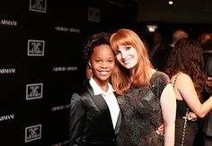 #TIFF14: Giorgio Armani brings the A-list to the CN Tower for one super swanky party // Quvenzhané Wallis and Jessica Chastain