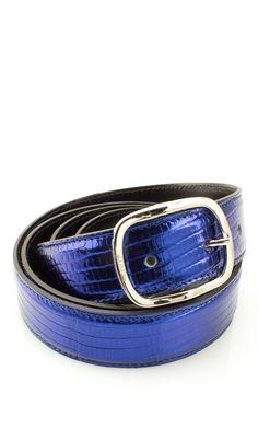 Cintura Cucita 3 CM LUCERTOLA Blu