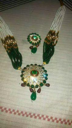 Rajputi jewellery pendent set by kuldeep singh