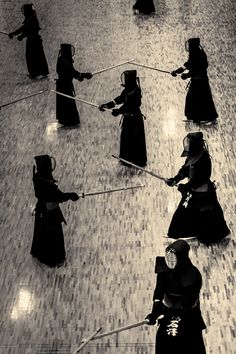 thekimonogallery:  Practicing Kendo at the Budo Center. Kyoto, Japan. Photography by Stephane Barbery on Flickr