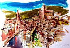 100x70 cm ©2014 por  Jordi Serrat Jurado Fair Grounds, Fun, Painting, Travel, Shopping, Impressionism, Artworks, Artists, Viajes