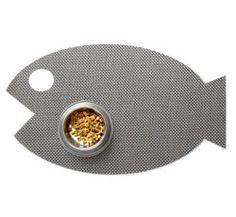 fishie cat food mat