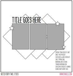 Single page ~ three vertical photos