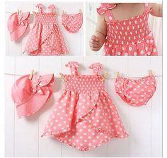 3pcs Kids Baby Girl Dress Braces Hat+Skirt+Pants Set Outfit Set Clothing 0-36M