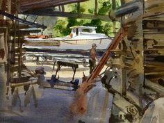 Flotsam and Jetsom by Mike Kowalski Watercolor ~ 9 x 12