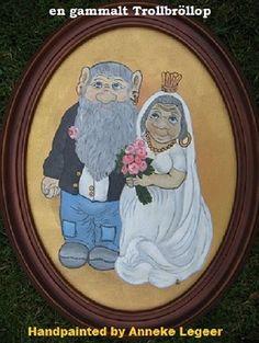 """ En gammalt trollensbröllop "" , handpainted by Anneke Legeer, the Netherlands, naar voorbeeld van Rolf Lidberg. Weert , 1 november 2012."