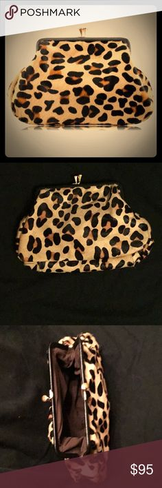 Leopard Print Horse Skin Wallet/Purse Good things come in small packages. 📦  This leopard print clutch by Hermene's Boutique is the perfect size to store your essentials...in luxury of course. Carry it solo or tucked into your favorite handbag.   New without tags Hermene's Boutique Bags Mini Bags
