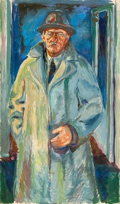 Portrait in Hat and Coat 1923–24 / Oil on canvas / 135 x 80 cm Munch Museum