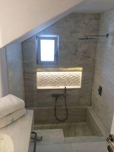 sunken bath with shower Bathroom Styling, Bathroom Interior Design, Modern Bathroom, Small Bathroom, Ikea Bathroom, Sunken Bathtub, Bathtub Shower Combo, Bathroom Renos, Dream Bathrooms