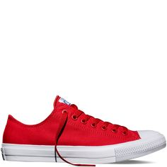 I'm preeeeetty excited that Chucks now come with an arch-support option. I prolly need these babies. Chuck Taylor All Star II salsa red