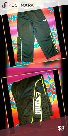 PUMA TODDLER SPORTS PANTS SIZE 2T GENTLY USED WELL STORED IN GREAT FUNCTIONAL CONDITION I HAVE TONS OF ITEMS SO DETAILS ARE IN THE ?'s TO AVOID CANCELLATIONS PLS ASK ME TO DOUBLE CHECK B4 PURCHASING I SELL ON OTHER APPs & THE DAY CAN GET HECTIC? I SHIP M-TH ONLY  I ANSWER?'s 6:30AM-8:30PM PT WHEN I'M NOT DRIVING.?'s AFTER 8:30PM WILL BE ANSWERED NEXT DAY THANKS FOR YOUR INQUIRY & HOPE Y'ALL HAVE A GREAT DAY Puma Bottoms Sweatpants & Joggers