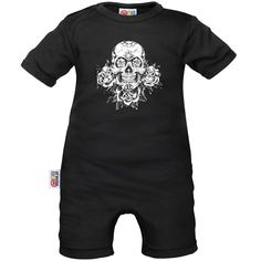 Barboteuse bébé tête de mort originale - Crânes - Family In Black