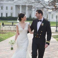 A Naval Lieutenant marries in this DIY Christmas Wedding in Washington, DC at the Army & Navy Club. Elegant winter wedding details & DIY!