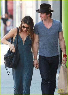 Ian Somerhalder Teases Upcoming 'Vampire Diaries' Season - See The 'First' Screenshot! | nikki reed ian somerhalder hold hands hot day 04 - Photo