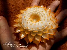 Hand carved soap flower, vanilla soap flower, custom color soap flower, colorfull soap flower, carving vanilla soap, Mother's day gift by AtelierABCarving on Etsy