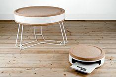 objet déco de style moderne en bois de liège