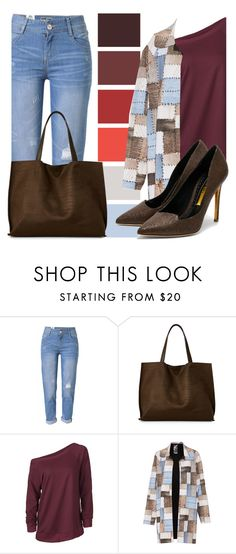 """""""Susan"""" by luissa ❤ liked on Polyvore featuring WithChic, Street Level, Norma Kamali and Rupert Sanderson"""