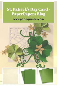 Creative Ideas, Diy Ideas, Making Cards, Diy Paper, St Patricks Day, News, Check, People, Projects