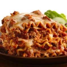 A tasty lasagna made using a slow cooker.