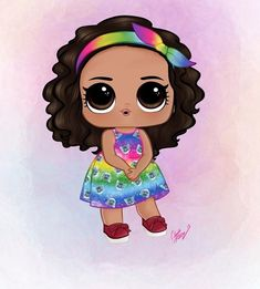 Edible Printing, Cute Doodles, Lol Dolls, Princesas Disney, Mini Me, Baby Design, Easy Drawings, Clipart, Painted Rocks