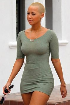 people gros plan sur amber rose le top model d origine cap Amber Rose Body, Amber Rose Pictures, Tight Dresses, Nice Dresses, Beautiful Black Women, Sensual, Swagg, Green Dress, Evening Dresses
