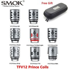Original SMOK TFV12 V12 Prince RBA Q4 M4 X6 T10 Mesh Strip Coil Vape Core For E Cigarette TFV12 Prince Tank SMOK MAG X-Priv Kit  Price: $ 23.99 & FREE Shipping   #computers #shopping #electronics #home #garden #LED #mobiles