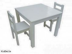 Kids table and chairs. Painted or stained, check facebook for more details.   Note: Image taken from elsewhere as cannot find my original image.