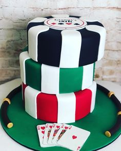 40th Party Ideas, Party Food Themes, 30th Party, Casino Party, Poker Cupcakes, Poker Cake, Birthday Cake For Boyfriend, James Bond Party, Casino Royale Theme