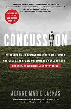 Concussion, 2016 The New York Times Best Sellers Science Books winner, Jeanne Marie Laskas #NYTime #GoodReads #Books